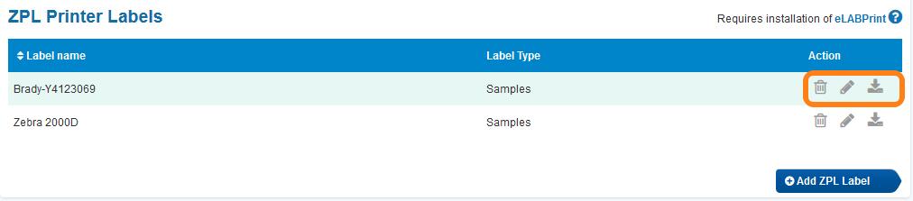 Configuring ZPL labels